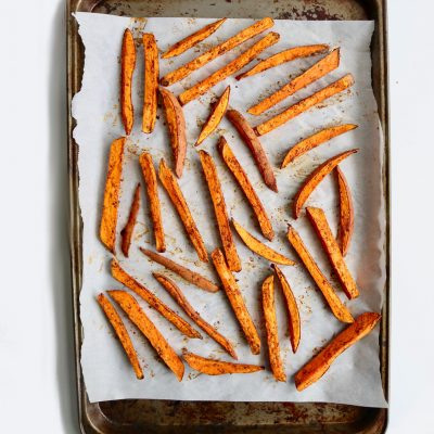 Baked, Seasoned Sweet Potato Fries
